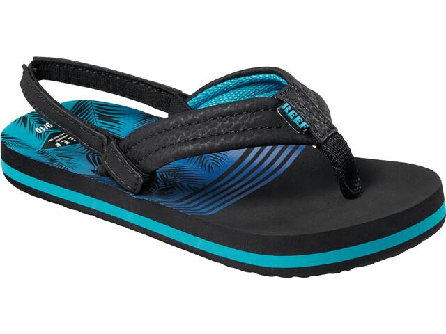 Reef Little Ahi Chaussures Garçon, aqua palms